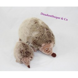 Plush Hedgehog IKEA MOM and her baby Brown Hedgehog