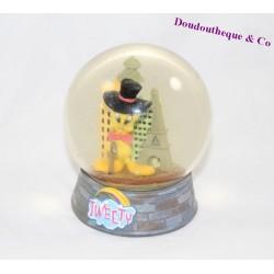 Boule à neige Titi Looney Tunes Tweety snow globe Tour Eiffel 14 cm
