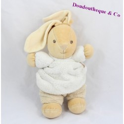 Doudou Ours Kaloo patchwork sable gris marron 20 cm