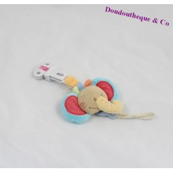 Attached lollipop elephant NATTOU Oasis attached nipple 23 cm