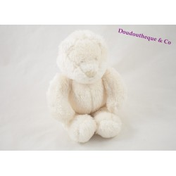 Doudou Ours Basile et Lola MOULIN ROTY blanc 20 cm