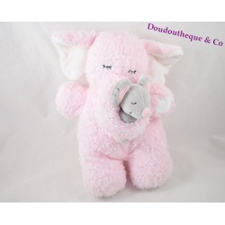 Plush Pink Elephant KIMBALOO mouse grey 29 cm