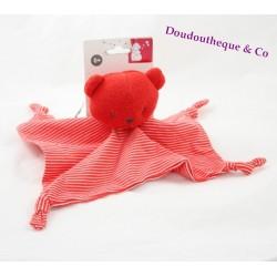Flat Teddy bear ORCHESTRA striped red 4 nodes head sponge Prémaman