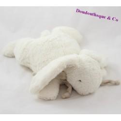 Doudou lapin DOUDOU ET COMPAGNIE Bonbon taupe blanc 32 cm