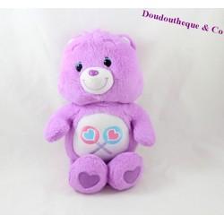 Peluche Bisounours violet sucette JEMINI 22 cm