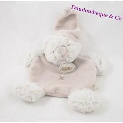 Doudou flat bear BABY NAT' gray hugs