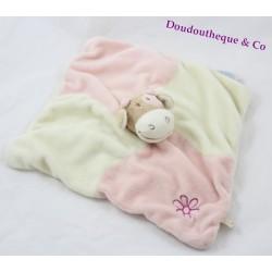 Flat Doudou Lola NOUKIE cow ' S square puppet pink