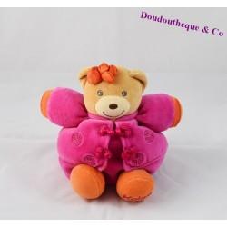 Doudou boule ours KALOO Ethnic signe chinois rose violet 17 cm