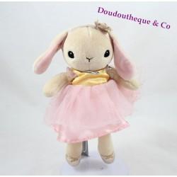 Doudou rabbit H & M pink dancer tutu 25 cm