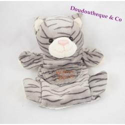 Doudou Chat marionnette HISTOIRE D'OURS gris