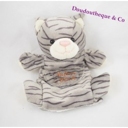 Doudou cat puppet story of gray bear