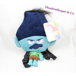 Backpack stuffed branch TROLLS DREAMWORKS blue-green 36 cm