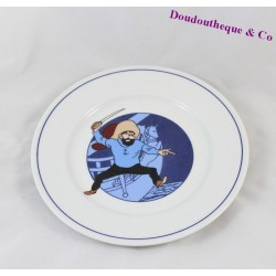 Assiette à dessert Capitaine Haddock TABLES & COULEURS Tintin 19 cm