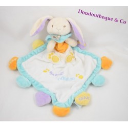 Doudou flat rabbit BABY NAT' my super soft crack diamond bell