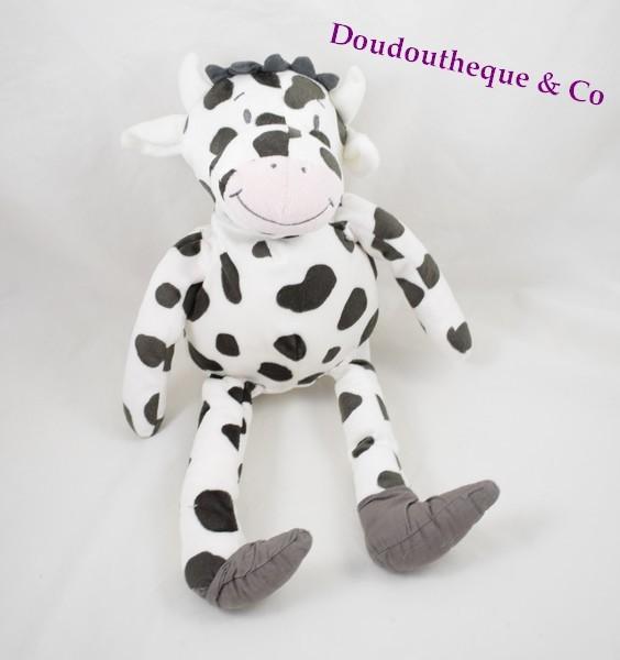 peluche doudou vache ikea blanche t che noire 36 cm sos doudou. Black Bedroom Furniture Sets. Home Design Ideas