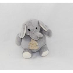 Doudou boule éléphant HISTOIRE D'OURS gris 16 cm