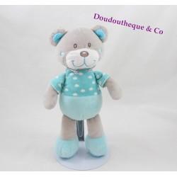 Teddy bear TEX BABY blue-green cloud Carrefour 25 cm