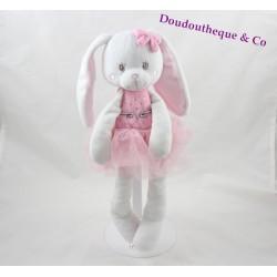 Doudou rabbit TEX pink tutu star Carrefour 33 cm