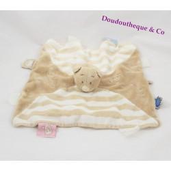 Nouky bear flat comforter NOUKIE'S cotillons birthday puppet beige 27 cm