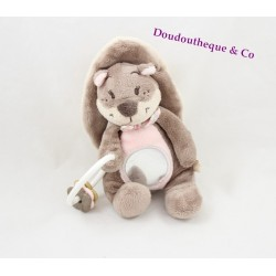 Doudou squirrel NOUKIE Léontine awakening ' S Oscarine and Léontine pink Brown mirror