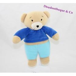 Plush blankie you T'choupi AJENA Teddy bear blue 22 cm