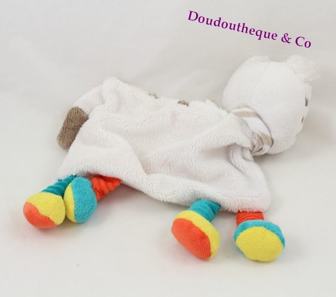 8cf05c788cd1 Doudou plat zèbre SIMBA TOYS blanc cercle foulard multicolore Nicot...