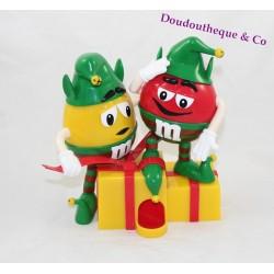 Distributeur M&M'S lutins de Noël m&ms rouge et jaune cadeau noel 20 cm