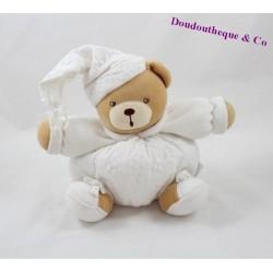 Doudou boule ours KALOO Dragée blanc 18 cm