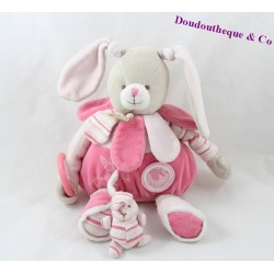 Soft toy rabbit DOUDOU ET COMPAGNIE Célestine pink 27 cm