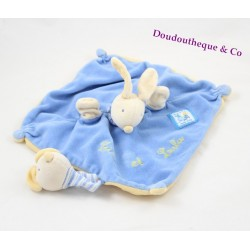 Doudou plat marionnette lapin MOULIN ROTY collection Lise et Lulu