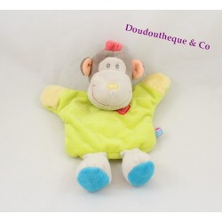 Doudou puppet monkey candy CANE green yellow anise 24 cm