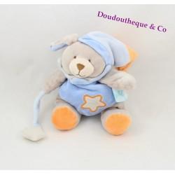 Doudou Chien Ours orange étoile BABY NAT luminiscent phosphorescent