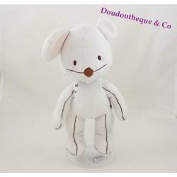 Plush mouse ITSIMAGICAL Imaginarium Vertbaudet white seam 29 cm
