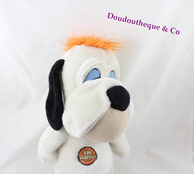 peluche chien droopy jemini blanc i 39 m happy 30 cm sos doudou. Black Bedroom Furniture Sets. Home Design Ideas