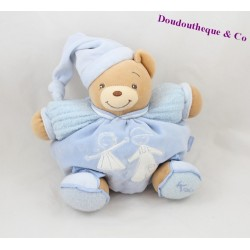 Doudou patapouf ours KALOO enfants bleu 22 cm