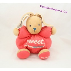 Peluche lapin KALOO Sweet Life medium rouge marron