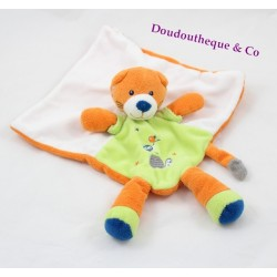 Doudou flat Fox NICOTOY green orange diamond turtle bird