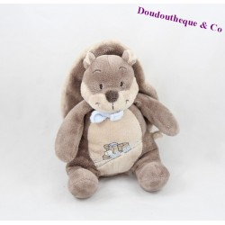 Doudou squirrel NOUKIE'S Oscar and Leon brown blue train 23 cm