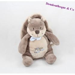 Doudou squirrel NOUKIE'S Oscar and Leon brown blue train 23 cm