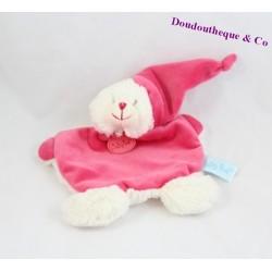 BABY NAT pink calfskin baby comforter