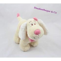 Peluche musicale chien ANNA CLUB PLUSH beige rose 20 cm
