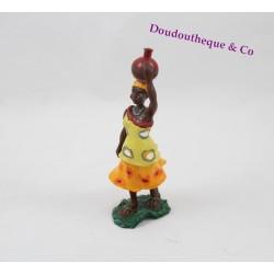 Figurine Kirikou PAPO femme pot sur le tête plastique 10 cm