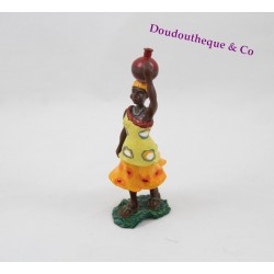 Figurine Kirikou PAPO woman pot on the head plastic 10 cm