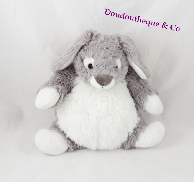 doudou lapin casino gris tr s clair et blanc corps mou 22 cm sos. Black Bedroom Furniture Sets. Home Design Ideas