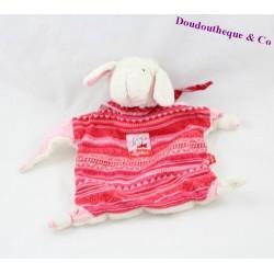 Doudou plat mouton SIGIKID écharpe rouge