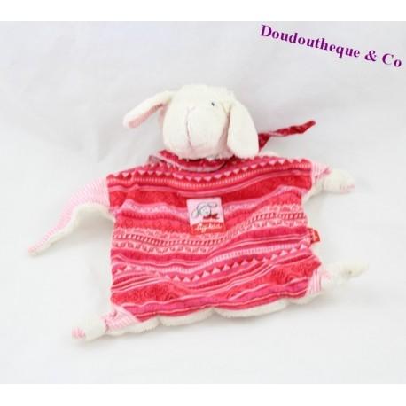Doudou plat mouton SIGIKID écharpe rouge - DoudouThèque and Co 3ae2136f12c