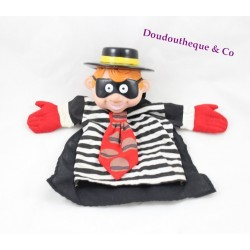 Vintage Hamburglar McDonalds white black advertising 1993 puppet