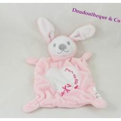 Rabbit flat comforter Wheat grain pink embroidery dragonflies rectangle 24 cm