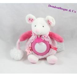 Doudou veilleuse souris DOUDOU ET COMPAGNIE Lovely fraise 17 cm