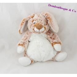 Doudou lapin NICOTOY Simba Toys marron roux orange 23 cm